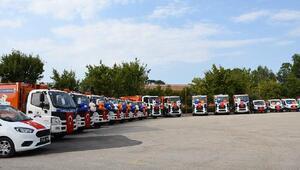 İnegöl Belediyesi 28 yeni temizlik aracı aldı