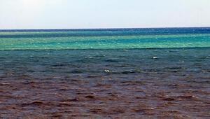 Fırtına, Antalya Körfezini 3 ayrı renge bürüdü