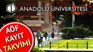 AÖF 2. dönem kayıt yenileme ne zaman başlayacak Anadolu Üniversitesi kayıt takvimi