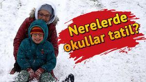 Isparta, Kocaeli, Ankara, Eskişehir ve Konyada okullar tatil mi Kar nedeniyle okulların tatil olduğu iller