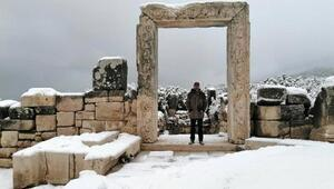 Kibyra Antik Kenti, beyaza büründü