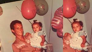 İlk doğum günümde babam ve ben