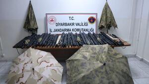 PKKlıların, İHAlardan gizlenmek için kullandıkları 364 termal şemsiye ele geçirildi