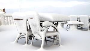 Yıldız Dağı Kayak Merkezinde kar bolluğu