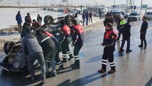 Ağrıda trafik kazası: 1 ölü, 2 yaralı