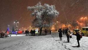 Sivasta kar yağışı etkili oluyor