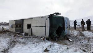 Tur otobüsü devrildi: 43 yaralı