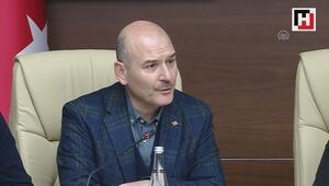 İçişleri Bakanı Soylu, deprem bölgesinde açıklamalarda bulundu