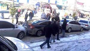 Mardinde zincirleme kaza 8 araç çarpıştı...