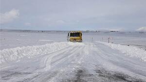 Kayserinin Bünyan ilçesinde eğitime kar engeli