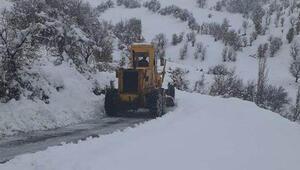Adıyamanda kar nedeniyle 36 yerleşim birimine ulaşım sağlanamıyor