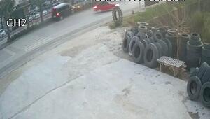 AK Partililerin yaralandığı kaza kamerada