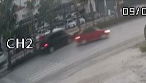 AK Partili Özhaseki, Türel ve Yılmaz'ın yaralandığı kaza anı kamerada