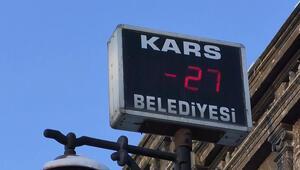 Termometreler eksi 27'i gösterdi