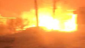 Uluderede trafodaki patlama anı kamerada