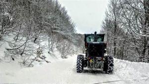 Kastamonuda 207 köy yolu kar nedeniyle ulaşıma kapandı
