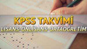 KPSS başvuruları ne zaman başlayacak 2020 KPSS sınav tarihleri