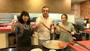 Japonyadan gelip, Adana kebabı yapımını öğrendiler