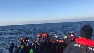 İzmirde 75 kaçak göçmen yakalandı