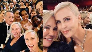 2020 Oscar selfiesine Charlize Theron imza attı