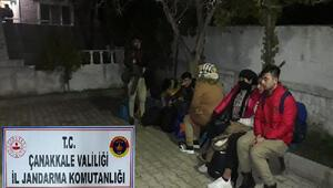 Çanakkalede 80 kaçak göçmen ile 1 organizatör yakalandı