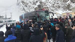 Trabzonspora Gümüşhanede coşkulu karşılama