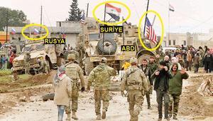 Gerilimin fotoğrafı Suriye'de ABD, Rusya ve rejim aynı karede