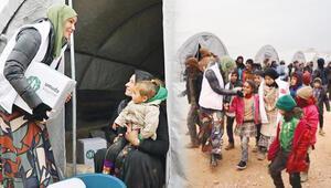 Gamze Özçelik İdlib'e umut oldu
