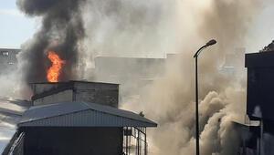 Gaziantepte pamuk fabrikasının deposundaki yangın ikinci gününde