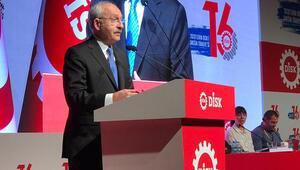 Kılıçdaroğlu DİSK genel kurulunda konuştu