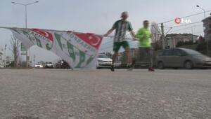Sevgililer Gününde Bursaspor'a koştular