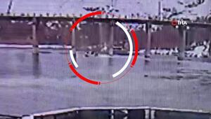 Keban Baraj Gölündeki tekne kazası kamerada