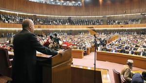 Erdoğan Pakistan Parlamentosu'na seslendi: Dün Kurtuluş Savaşımız neyse bugün Keşmir o