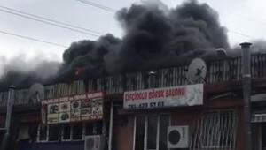 Son dakika haberler: Esenyurtta sanayi sitesinde yangın