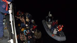 Enez açıklarında 48 kaçak göçmen yakalandı