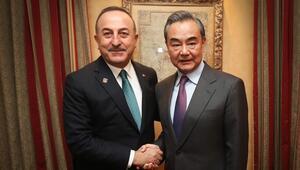 Dışişleri Bakanı Çavuşoğlu, Çinli mevkidaşıyla görüştü