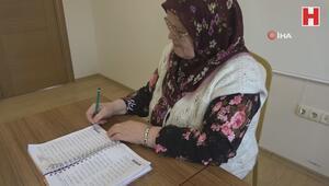 70 yaşında okuma yazma öğrendi, hayatının kitabını yazıyor