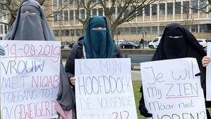 Hollanda'da burka yasağı protestosu: Sıra başörtüye mi geldi