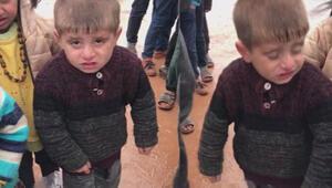 İdlibte üşürken çekilen görüntüleri yürek burkan çocuğa yardım eli