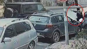 İstanbulda lüks cipe silahlı saldırı Kurşun yağdırdı...