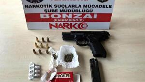 Tekirdağda uyuşturucu ve tabanca ele geçti: 6 gözaltı
