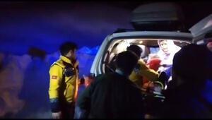 Nevin için sağlık görevlileri ve karla mücadele ekipleri seferber oldu