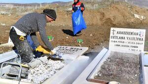 Büyükşehir Belediyesi, gayrimüslim mezarlarını onarıyor