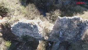 Define avcıları 1600 yıllık tarihi su kemerini dinamitlerle yıktı