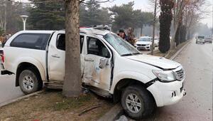 Elazığda AFAD aracı kaza yaptı
