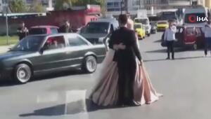 İstanbulda düğün konvoyları trafikte tehlike saçtı