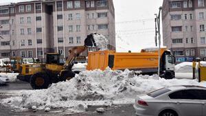 Bitlis'te karlar kamyonlarla şehir dışına taşınıyor