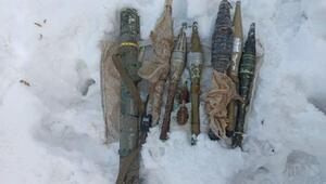 Hakkaride PKK füzesi ve mühimmat ele geçirildi