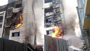 Son dakika haberi: Kağıthanede iş merkezinde yangın