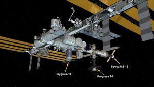 Cyngus isimli kargo gemisi Uluslararası Uzay İstasyonuna ulaştı